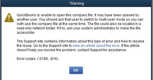 QuickBooks file damage error